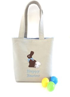A personal favorite from my Etsy shop https://www.etsy.com/listing/521160865/easter-bags-personalized-easter-baskets