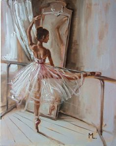 Monika Luniak - Paintings for Sale Ballet Drawings, Art Drawings Sketches, Ballerina Kunst, Ballet Wallpaper, Ballerina Painting, Dance Paintings, Ballet Art, Ballet Dancers, Ballet Photography