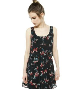 #bershka #spring #floral #dress #woman #fashion