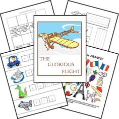 The Glorious Flight Lessons, Lapbook, Printables, FREE Unit Study
