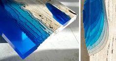 Resultado de imagem para resin inlay wood