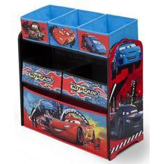 Juguetero infantil #Cars #Disney ideal para guardar todos sus juguetes en su dormitorio infantil. #bainba #habitacioninfantil #decoracion #CarsPixar