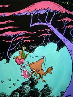 Seuss Copy Art by Jackie Roberts, via Behance Informations About Children's Art Copy Work Pin Yo Dr Seuss Trees, Dr Seuss Art, Dr Suess, Dr Seuss Drawings, Dr Seuss Illustration, Sketch Inspiration, Art Forms, Art Inspo, Watercolor Art