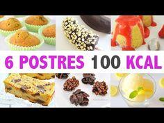 MIS POSTRES SÚPER FIT | 100 CALORIAS O MENOS | AUXY - YouTube