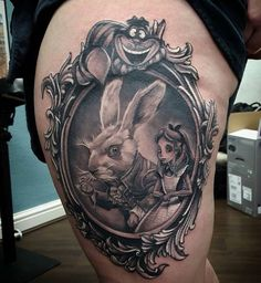 Alice and Rabbit tattoo