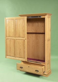 5 gun birch wood gun cabinet vintage 1960's | assets sell live