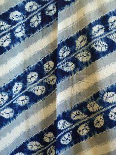 wisteria shibori yukata • taisho era • via sri threads