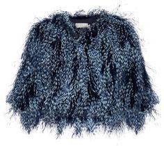 2a52407b009 Mary Katrantzou Spike feather cropped jacket - ShopStyle