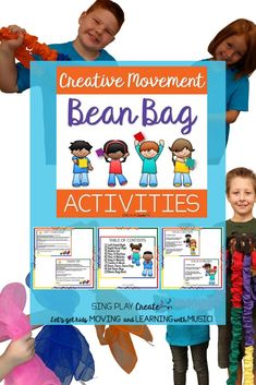 Creative movement props are a fun way to engage students and TEACH concepts. Creative movement is the answer to keep students actively engaged. Use as Transition activities, learning games and reward days. Music Education Activities, Learning Games, Kids Learning, Teaching Resources, Teaching Ideas, Bean Bag Activities, Preschool Music Activities, Motor Activities, Movement Preschool