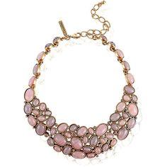 Oscar de la Renta Cabochon-Stone Collar Necklace ($995) ❤ liked on Polyvore