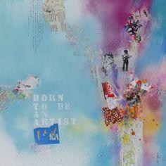 "Saatchi Art Artist Xiaoyang Galas; Painting, ""Born to be an artist II"" #art"