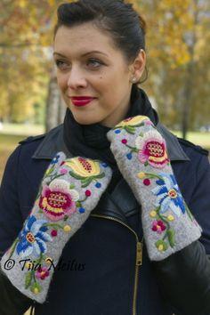 Põhja-Eesti tikandi ainetel   Tiia Meitus   Embroidery on felt