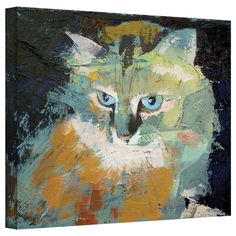 """ArtWall """"Himalayan Cat"""" by Michael Creese Gallery Painting Print on Canvas"""