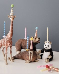 Shop Animal Cake Candles by Lola Beau. Glittery Animal Candle holders for Cakes in beautiful design from unicorn candles to zebras. Animal Birthday, Baby Birthday, First Birthday Parties, First Birthdays, Cheetah Birthday, Birthday Party Favors, Birthday Cake, Animal Party, Diy Party Animals