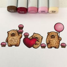 I LOVE these little bears from My Favorite Things check out my new blog post with a fun Valentine's Card. Link in bio! . . . #copicmarkers #copic #copicart #copicsketch #copicclass #adultcoloring #coloring #copiccoloring #adultcoloringbook #thecopicscoop #myfavoritethingsstamps #mftstamps #cardmaking #cardart #stamping #papercrafts #cardmaker #handmadecard #thedailymarker30day #papercrafts #markerart #copiclove #handmadevalentines #valentinescard #coloringforadults #markerart #mftsketchchallenge
