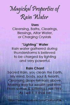 Magical properties of Rainwater