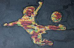 """""""Denken heißt Handeln - im Innern des Kopfs."""" William R. Ashby """"Fußballspieler"""" Mischtechnik: Tusche und Fotomanipulation von Jörg Schubert """"Soccer Player"""" Mixed media: Ink and photo manipulation by Jörg Schubert  #art #kunst #mischtechnik #mixed #media #fotomanipulation #ink #tusche #glitch #pop #fußball #soccer #player #sport #sports #photo #manipulation #zitate www.chanceforum.de"""