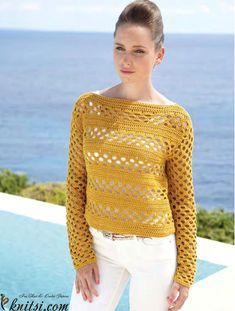 Summer sweater crochet pattern