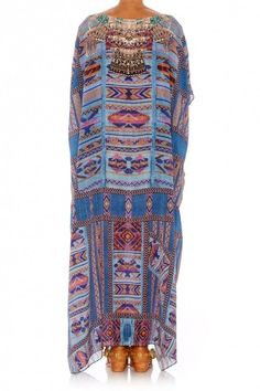 New Camilla Franks Silk Swarovski Stitch of Condor Round Neck Kaftan Dress | eBay