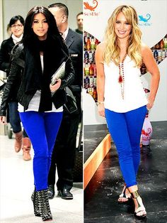 blue pants+ white shirt+ black shoes & leather jacket