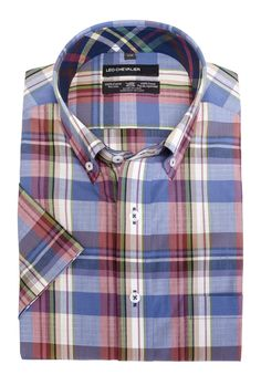 Men's fashions at The Abbey 100% Cotton No Ir... Check it out here http://theabbeycollection.ca/products/100-cotton-no-iron-plaid-sport-shirt-button-down-collar-short-sleeve-by-leo-chevalier?utm_campaign=social_autopilot&utm_source=pin&utm_medium=pin