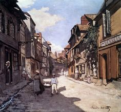 Claude Monet - Street of the Bavolle Honfleur, 1864
