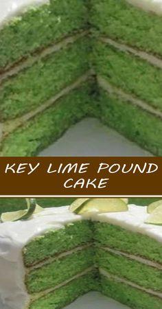Key Lime Pound Cake, Key Lime Cake, Sweets Recipes, Cupcake Recipes, Cupcake Cakes, Cupcakes, Homemade Cake Recipes, Pound Cake Recipes, Pound Cakes