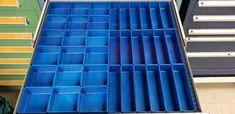 "37 PC Red Plastic Box Assortment 1"" Deep / Four (4) SIZES - Schaller Corporation Tool Drawer Organizer, Drawer Dividers, Drawer Organisers, Plastic Tool Box, Tool Drawers, Deep, Organization, Organizing, Tools"