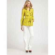 Casaco estilo Raincoat amarelo - Burberry Brit