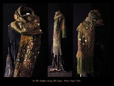 RESERVED  luxurious nomad winter scarf Art to Wear scarf door Jevda,