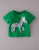 Big Appliqué T-shirt (Broccoli/Zebra)