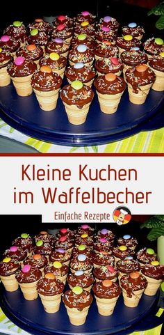 Cupcakes in a waffle bowl - Ingredients: 100 g butter or margarine, soft 10 . - Cupcakes in a waffle bowl – Ingredients: 100 g butter or margarine, soft 100 g sugar 1 pack. Easy Cheesecake Recipes, Easy Cookie Recipes, Easter Recipes, Apple Recipes, Quick Recipes, 12 Cupcakes, Cake Pops, Waffle Bowl, Chocolate Coating