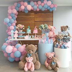 Simple Gender Reveal, Gender Reveal Themes, Pregnancy Gender Reveal, Gender Reveal Party Decorations, Baby Gender Reveal Party, Gender Party, Baby Shower Decorations For Boys, Baby Shower Themes, Deco Baby Shower