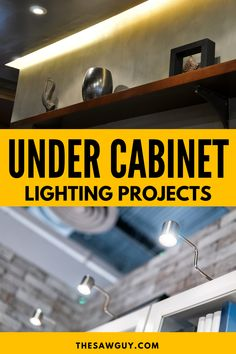 Do you have trouble navigating your kitchen at night? These under cabinet lighting ideas are inexpensive, easy to install, and will light the way for any kitchen, bedroom, or bathroom. Learn which under cabinet lighting is best for your DIY project from simple lighting ideas to that designer lighting look. These are the best under cabinet lighting for your home! Backyard Projects, Cool Diy Projects, Best Under Cabinet Lighting, Declutter, Organize, Modern Crafts, Build Your Own House, Light Project, Diy Cabinets