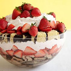 No one needs to know that you took some help from the supermarket to whip up this showstopping yet speedy #ValentinesDay Strawberry Shortcake Trifle!