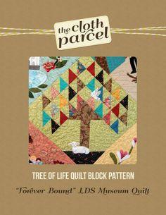 Tree of Life Quilt Block Pattern