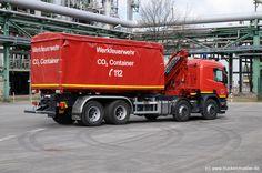 GE-WF 3333  Baujahr2004 Funkrufnahme   Geliefert  FahrgestellScania P 124 GB 8x4 Werkfeuerwehr Ruhr Oel GmbH