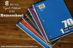 8 Ways to Use Spiral Notebooks in Your Homeschool