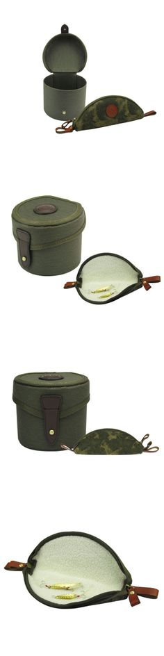 Reel Cases and Storage 179998: Tourbon Reel Cover Case Bag Carrier And Fishing Fly Wallet Pouch Vintage Combo BUY IT NOW ONLY: $36.47