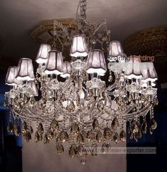 chandelier crystal with shades - Google Search