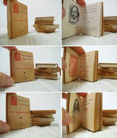 Antique Set of 5 Miniature Books Published by S. by DivineOrders