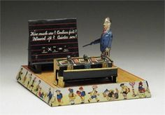 Gunthermann schoolmaster tin wind-up toy, Germany