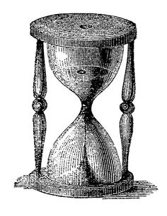 hourglass etching--the Graphics Fairy