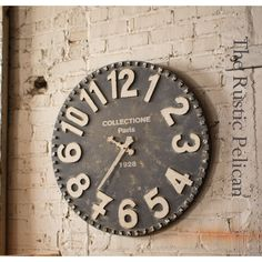 Reclaimed wood Wall Clock -Large Wall Clock -Farmhouse Decor -Rustic... ($159) ❤ liked on Polyvore featuring home, home decor and clocks