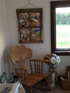 from barn window to rustic picture frame