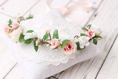 bridal flower crown wedding headpiece wedding by GadaByGrace