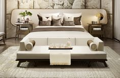 Pure Asian Home Decor reference 4422166324 - Eye Catching ideas to create a warm transformation. Japanese Home Decor, Asian Home Decor, Bedroom Bed, Home Decor Bedroom, Bed Rooms, Bedroom Ideas, Modern Bedroom Furniture, Furniture Design, Asian Interior
