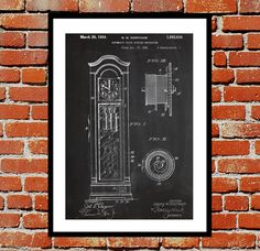 Grandfather Clock Print, Grandfather Clock Poster, Grandfather Clock Patent, Grandfather Clock Decor, Grandfather Clock Wall Art by STANLEYprintHOUSE  3.00 USD  We use only top quality archival inks and heavyweight matte fine art papers and high end printers to produce a stunning quality print that's made to last.  Any of these posters will make a great affordable gift, or tie any room together.  Please choose between different sizes and col ..  https://www.etsy.com/ca/listing/2449..