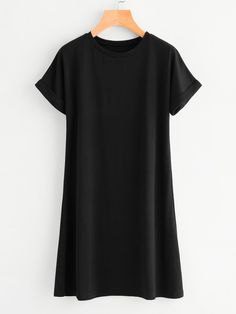 6a72284b Shop Rolled Sleeve Tee Dress online Australia,SHEIN offers huge selection  of Dresses more to fit your fashionable needs.