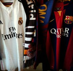 Real Madrid and Barcelona Soccer Jerseys